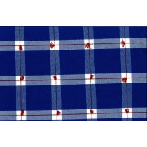 Cotton Handloom Check 54 Hickory Blue