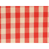 M/S KamalaTobol Red Beige Cotton Check