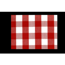 Tobol Red White Cotton Check/Plaid