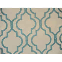 Trellis Aqua Print on Cotton