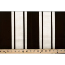 Chocolate Cotton Linen Stripe 4021