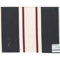 Cotton Linen Stripes 4021 Hershey/Red