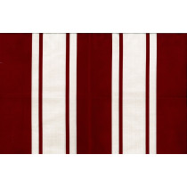 Red Cotton Linen Stripe 4021