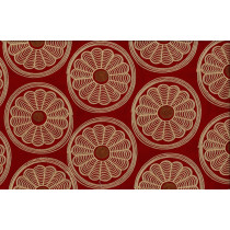Artee Cotton Embroidery Daisy - Paprika