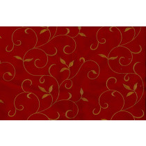 Artee Cotton Embroidery Scroll Paprika