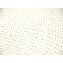 Jute Burlap Fabric - White