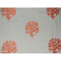 Indoor/Outdoor Coral Embroidery - Coral