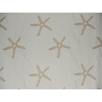 Indoor/Outdoor Star Embroidery - Natural