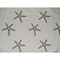 Indoor/Outdoor Star Embroidery - Navy
