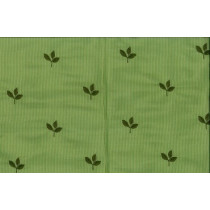 Silk Taffeta Blend Embroidery Java Leaf 337 Apple