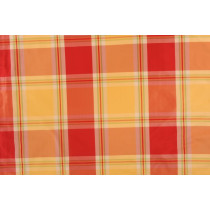 Silk Taffeta Plaid  G130 Red Yellow