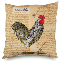 Rooster print silk